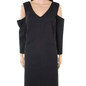 Eliza J V-Neck Cold-Shoulder Sheath Dress NWT!!